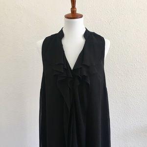 NWT BCBG Sheer Black Dress